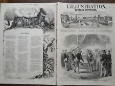 L'ILLUSTRATION 1859 N 878 RECEPTION DE M. LE CHEVALIER  DES AMBROIS DE NEUVACHE