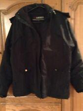 LEGEA Noir Rembourré Ajusté Manteau polaire doublé capuche amovible taille XL