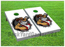 VINYL WRAPS Cornhole Boards DECALS Cowboy Baseball BagToss Game Stickers 624