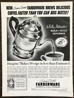 1954 Farberware Super Speed Automatic Coffeemaker PRINT AD