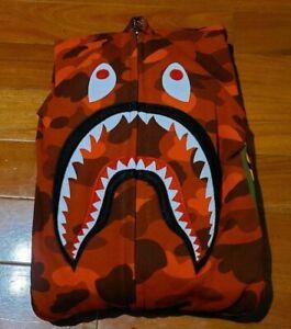 Bape Shark Hoodie Red Camo Size XL (READ DESCRIPTION)