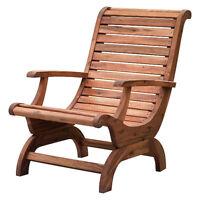 Teak Oiled Plantation Adirondack Outdoor Patio Deck Chair - New!