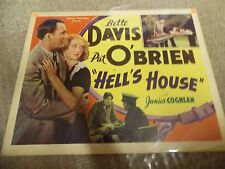 "HELL'S HOUSE(R-39)BETTE DAVIS PAT O'BRIEN ORIGINAL 22""BY28"" POSTER"