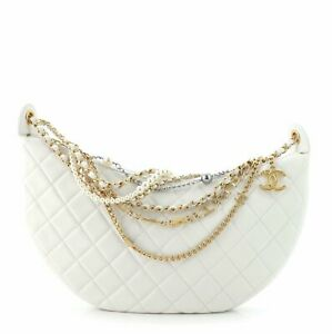 Chanel All About Chains Hobo Quilted Lambskin