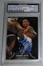 Anthony Pettis Signed UFC 2012 Topps Bloodlines Black Card #/88 PSA/DNA COA Auto