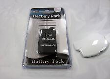 PSP 2000 (SLIM) Replacement Battery Pack 3.6v 2400mAh + White Battery Cover Set