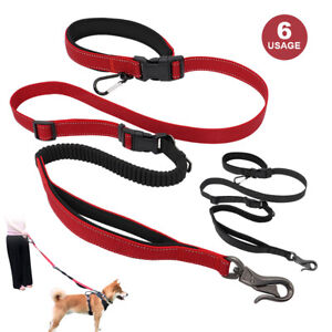 6-in-1 Multifunction Heavy Duty Dog Lead with Car Seat Belt Carabiner Hands Free