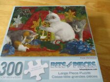 "New 300 Piece Lucie Bilodeau Art Puzzle ""First Christmas"" Large Format 18x24"