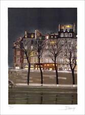 Jean-Luc LECOINDRE - Lithographie Originale Signée, Art naïf, Quai des orfèvres