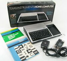 TEXAS INTRUMENTS TI-99/4A VINTAGE COMPUTER IN BOX W MANUAL WORKING * MINT!