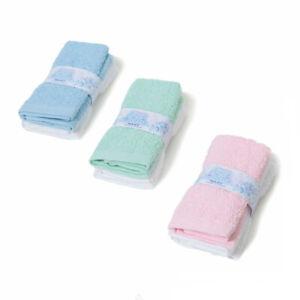 Kids Cotton Wash Face Cloths Flannel Towel Burp Baby Boy Girl 2 Pack