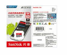 64GB SanDisk  Klasse 10 A1 TF Speicherkarte 100MB/S Ultra MICRO-SD SDHC SDXC