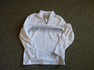 Under Armour Mens White zip up coldgear loose med White