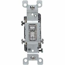 Leviton 1463-Lhc 12 Pack 15 Amp 120 Volt Toggle Lighted Handle 3-Way Switch