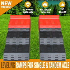 NEW Leveling Ramps for Single and Tandem Axle Caravans and Motorhomes RV