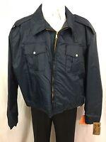 Spiewak Navy (Reversible to Orange/Reflective) Nylon Mens Jacket Coat 3XL-5X NWT