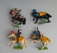 Vintage Britains Knights On Horseback Three knights on horses one  spare horse