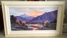 "Finest Huge Original BEVERLY CARRICK Painting ""Tranquil Evening"" 60x37"" Framed"