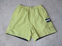 VINTAGE Tommy Hilfiger Swim Trunks Shorts Adult Large Yellow Blue Bathing Suit