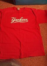 MAJESTIC NEW YORK YANKEES MLB RED SHIRT BASEBALL BOYS X-LARGE