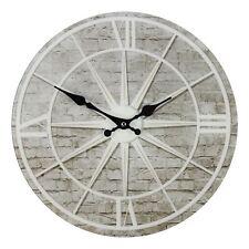 Hometime Wake up & Be Wonderful Vintage Bedroom Number Wall Clock 30cm Black