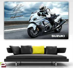 Suzuki Hayabusa GIANT POSTER Wall Art LARGE IMAGE, Suzuki Racing