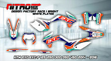 KTM Graphics Kit Decal Design Stickers  EXC EXC-F 125 250 300 350 450 2014-2016