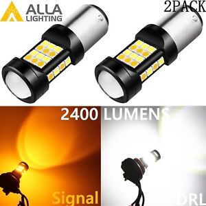 Alla Lighting 1157 7528 LED Switchback Yellow/White Turn Signal/DRL Light Bulbs