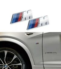 M Sport / Power Set Emblems Stickers Badges Wing Side for BMW