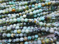 """3mm Round Bead African Turquoise 15""""-16"""" INCH Stone Bead !("""