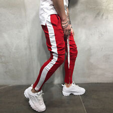 Mens Track Pants Skinny Casual Gym Jogging Bottoms Joggers Gym Sweat Trousers