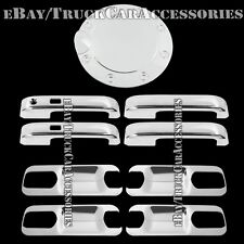 For FORD F-150 F150 2015 2016 Chrome Covers Set 4 Door Handles+Back Plates+1 Gas