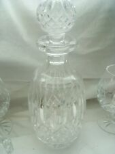 Waterford Lismore  Brandy Decanter W/Stopper  Four Brandy Sniffer Glasses