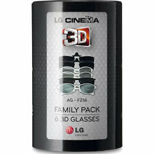 LG AG-F216 CINEMA 3D GLASSES FAMILY 6  PACK  Factory Sealed