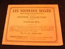 Partition Les nouveaux succès clarinette si b