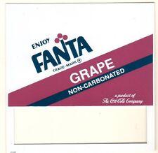 "Fanta Grape Non-Carbonated Vending Machine Insert, 3 1/2"" x 3 1/2"""
