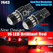 2X 7443 High Power 5630 Chip Red Projector LED Brake Tail Stop Lights Bulbs