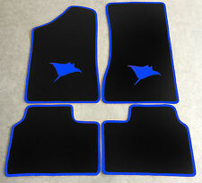 Autoteppich Fußmatten für Opel Manta B und CC  Rochen blau Neuware 4teilig