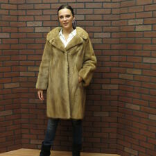 VTG/RETRO SALE!! NICE ! *PASTEL BROWN RANCH MINK FUR COAT!  M - FREE SHIP USA!