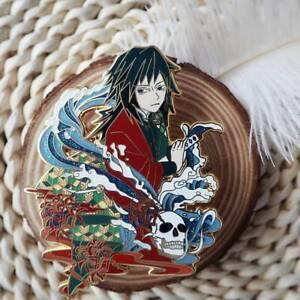 Demon Slayer Kimetsu no Yaiba Tomioka Giyuu Enamel Pin Brooch Collection N