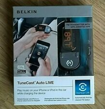 BELKIN TUNECAST AUTO LIVE IPHONE IPOD FM TRANSMITTER F8Z498cw