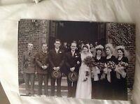 M17b8 6x4 Inches reprint Photograph ww2 Wedding Couple Bride a029 church assembl