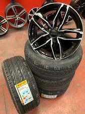 4 Cerchi Atom + gomme estive 225/45 R17 Pirelli 17 pollici Audi A3 VW Golf 5 6 7