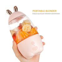 Portable Juicer Cup USB Rechargeable MIni Blender Smoothies Mixer Fruit Machine