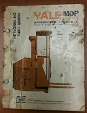 Yale Instrucations and Parts Manual for Yale MOP Series, 1022, 1968