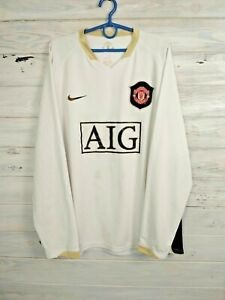 Manchester United Jersey 2006 2007 Long Sleeve L Shirt Fotball Trikot Nike