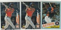 2020 Topps Chrome Yordan Alvarez 35th Anniversary Refractor & 2 Rookie Cards