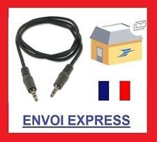 Cable Jack 3.5mm Male M Adaptateur Cordon audio stéréo auxiliaire AUX TV 1M PC