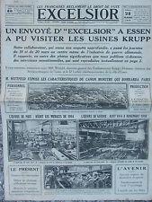 EXCELSIOR (28 mars 1919Droit de vote des femmes - Les usines Krupp