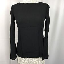 Urban Outfitters Staring At Stars Women's Top Long Sleeves Cross Back Black M